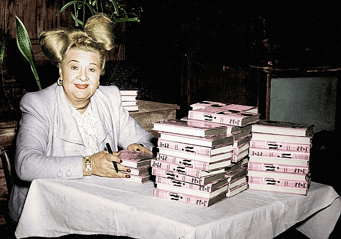 Sophie Tucker at Book Signing