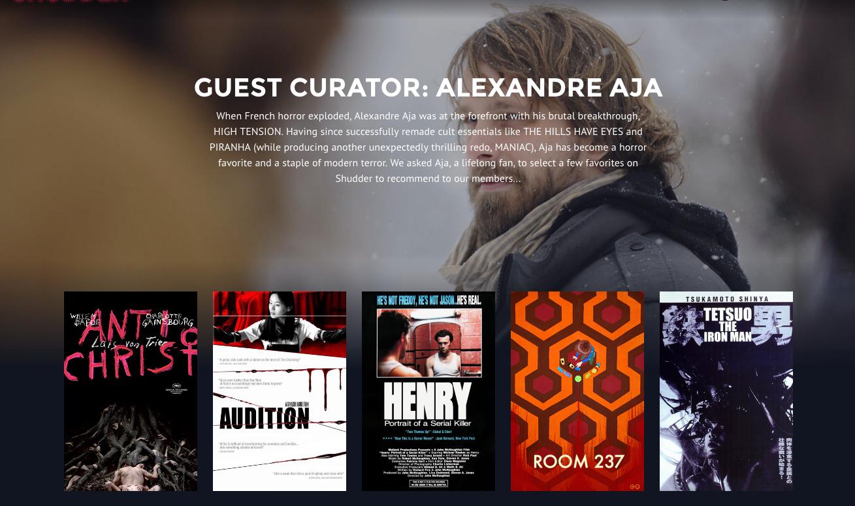 Alexandre Aja's Shudder Collection