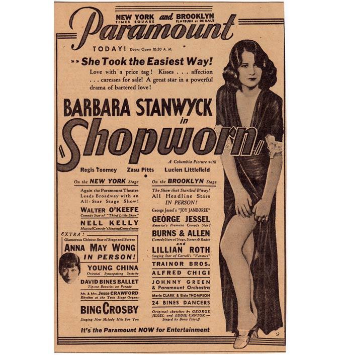 Paramount Theater Ad (1932) 680