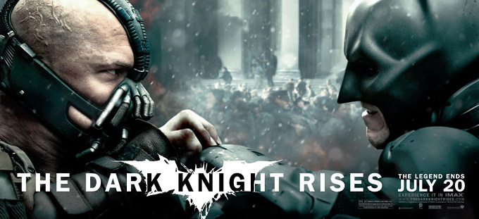 The Dark Knight Rises Banner Bane Batman Face to Face