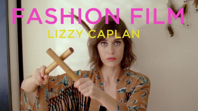 Lizzy Caplan Fashion Film skip