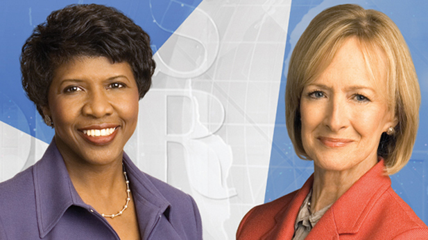 Gwen Ifill and Judy Woodruff