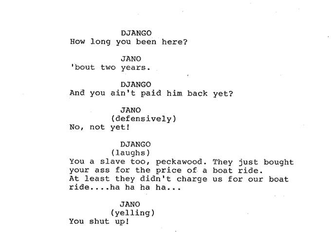 Django Unchained script page skip