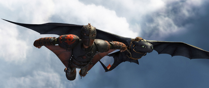 Jay Baruchel-Hiccup and Toothless-fancy flying