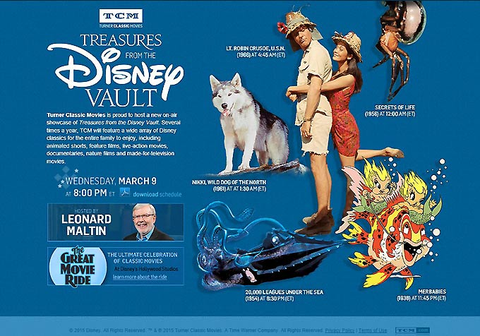 TCM Spring Disney Lineup (2016)