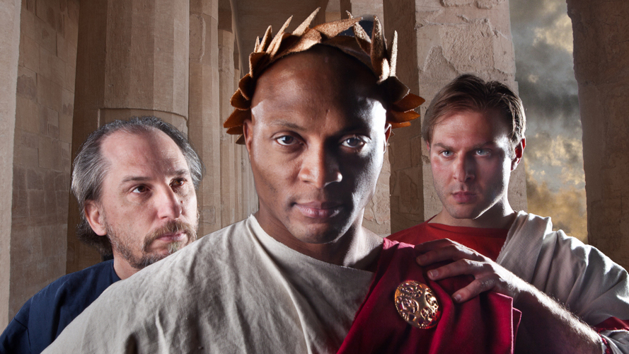 Eddie George as Julius Caesar at the Nashville Shakespeare Festival, 2014