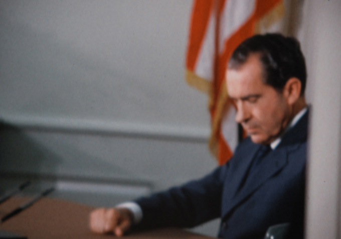The film is comprised entirely of archival footage from television news reports, interviews and the Super 8 home movies of Nixon's closest advisors, ...