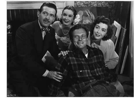 "Ernest Lehman and Geza Herczeg provided the story, Mary Loos and Richard Sale the screenplay for ""The Inside Story"" (1948), a Republic Picture starring (left to right) Robert Shayne, Gail Patrick, William Lundigan, and Marsha Hunt; the prolific Allan Dwan directed."