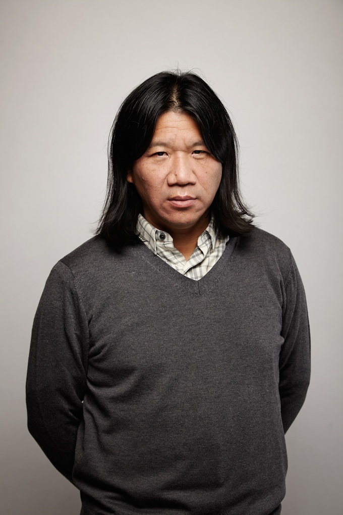 "Darren Lew, cinematographer of ""Jamie Marks Is Dead"" at the Canon Craft Cocktails Portrait Studio at the 2014 Sundance Film Festival"