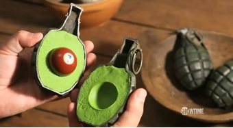 PES built this 2 minute film starting with the idea as an avocado as a grenade.