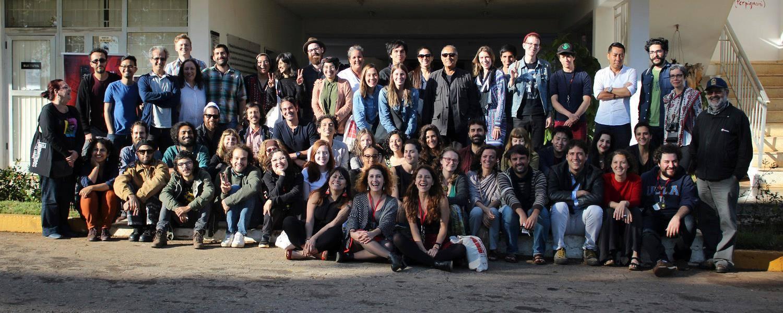 Kiarostami and my fellow filmmakers at EICTV