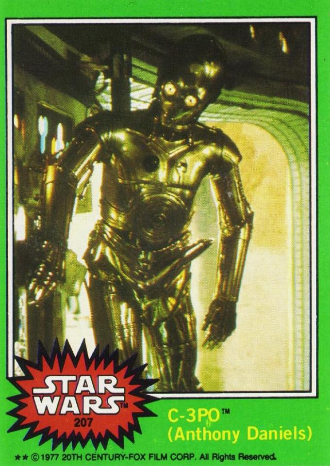 C3PO trading card
