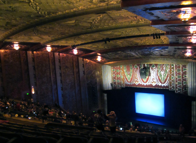 Here's the view from the second balcony, taken during an intermission.
