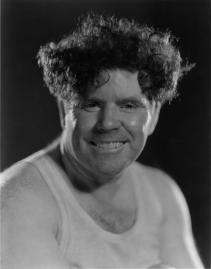 """Jim Tully, official Hollywood """"character,"""" in a Clarence Sinclair Bull portrait"""