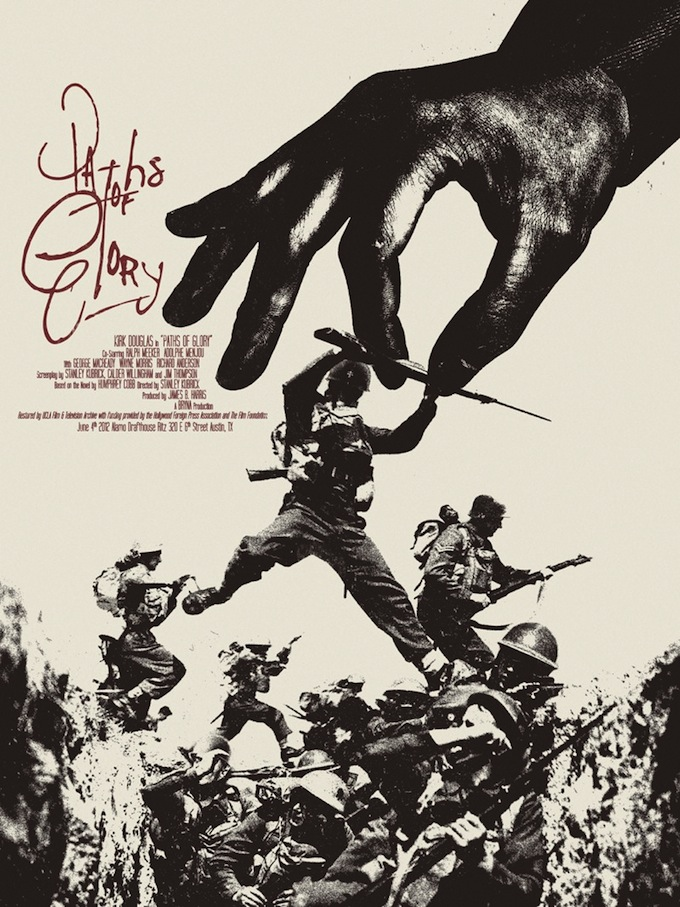 """Paths of Glory"" poster by Jay Shaw"