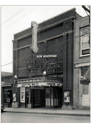 "The Liberty Theatre in Bedford, Virginia, says it will keep you ""Cool As A Pool – Always 70 degrees"" in 1931."
