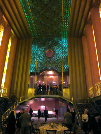 The grand lobby of the Paramount—the last word in opulence.