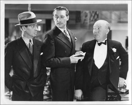 "Three emblematic movie figures of the early 1930s, in Frank Capra's ""Lady for a Day:"" Ned Sparks, Warren William, and Guy Kibbee."