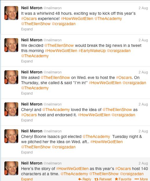 Neil Meron Tweets