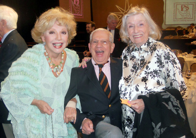 Ruta Lee, Robert Clary and choreographer Miriam Nelson are in high spirits.