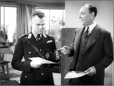 Esmond Knight and Ralph Richardson in 'The Silver Fleet'.