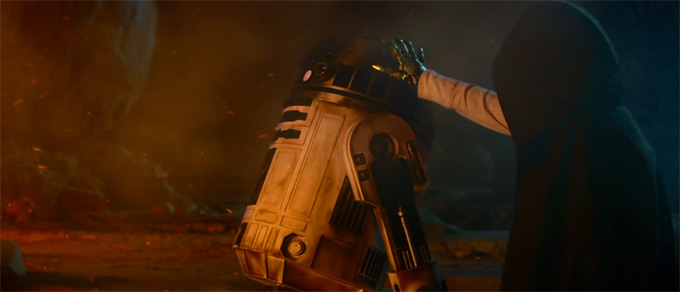 Star Wars The Force Awakens, skip trailer screengrabs