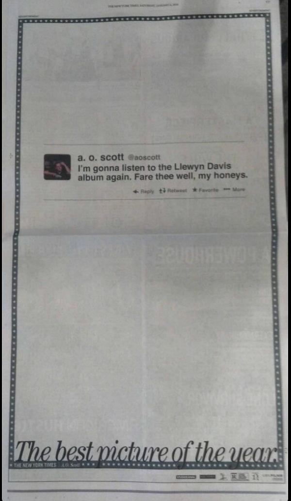 AO Scott Tweet