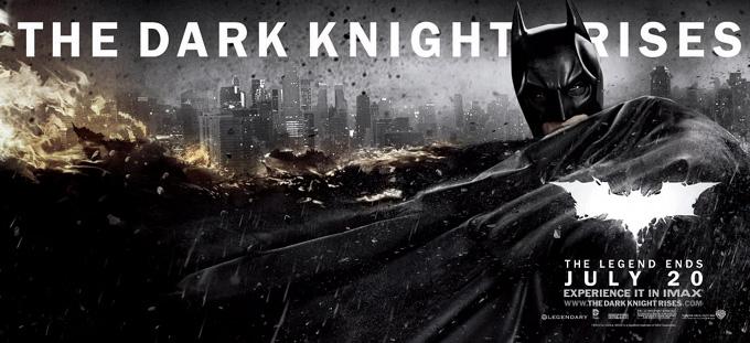 The Dark Knight Rises Banner Batman Fire