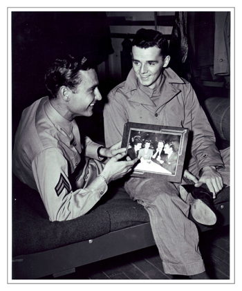 During World War II, A.C. and his good friend Freddie Bartholomew catch up with each other while serving Uncle Sam. He told me they used to double-date.