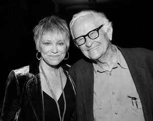 Peggy Johnson with Albert Maysles