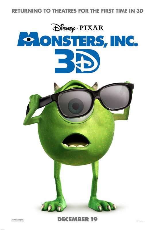 Monsters Inc 3D Poster skip crop