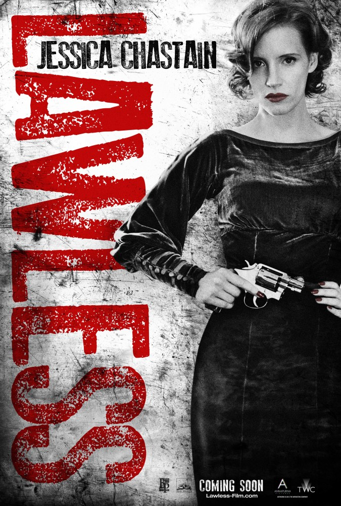 Jessica Chastain, lawless poster