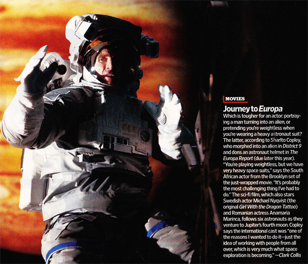 Sharlto Copley The Europa Report EW