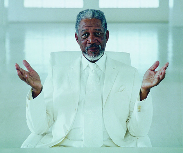 "Morgan Freeman as God in ""Bruce Almighty"""