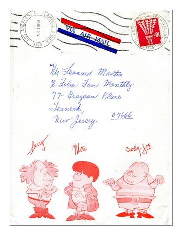 Three Stooges Envelope-369