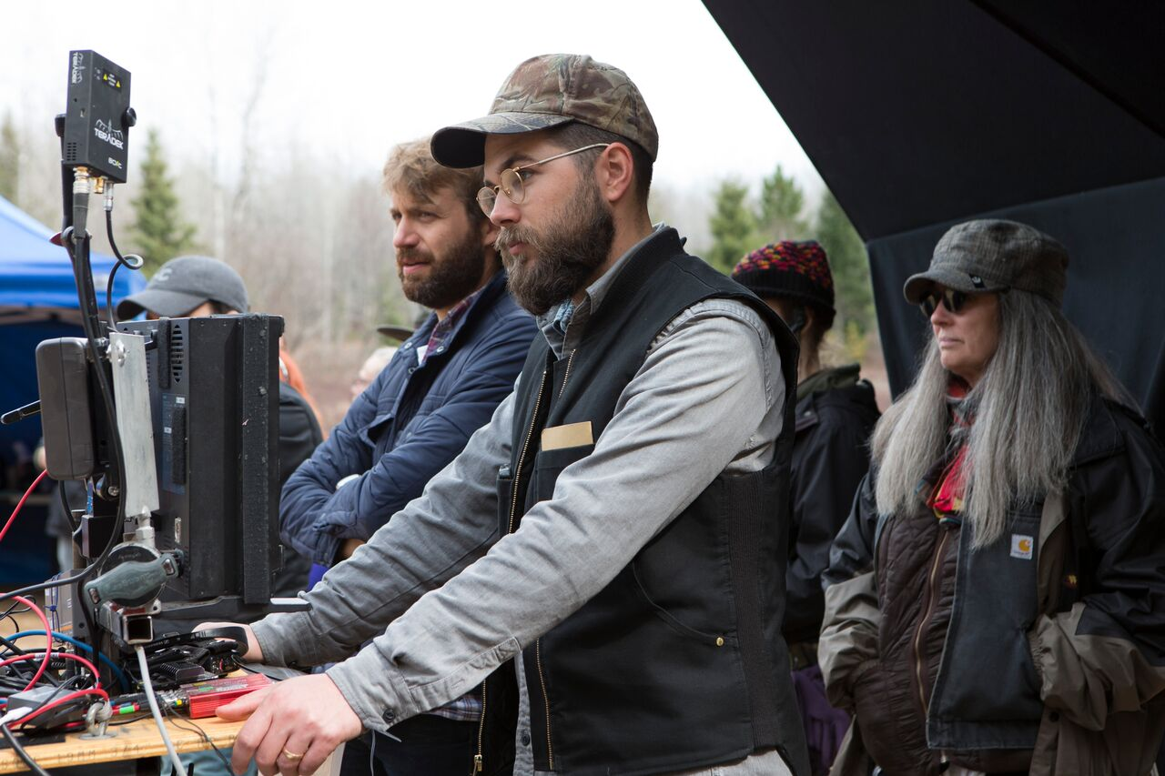 "Jarin Blaschke & Robert Eggers on the set of ""The Witch"""