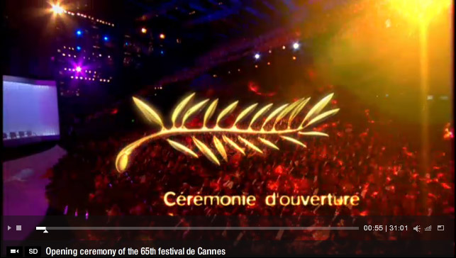 Cannes, opening ceremony clip
