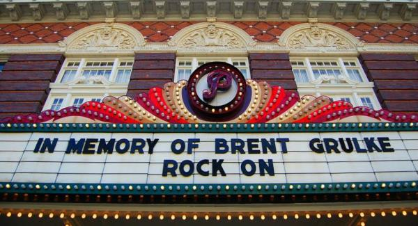 Paramount Theatre Marquee, Brent Grulke passing