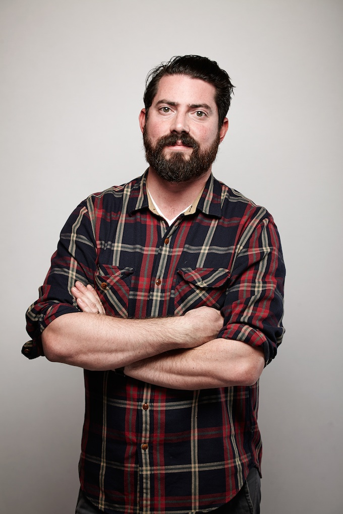 """Zachary Galler, cinematographer of """"The Sleepwalker"""" at the Canon Craft Cocktails Portrait Studio at the 2014 Sundance Film Festival"""