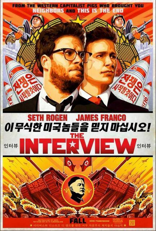 The Interview, poster, Rogen, Franco
