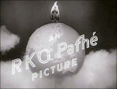 The short-lived RKO Pathé logo after a merger in the early 1930s.