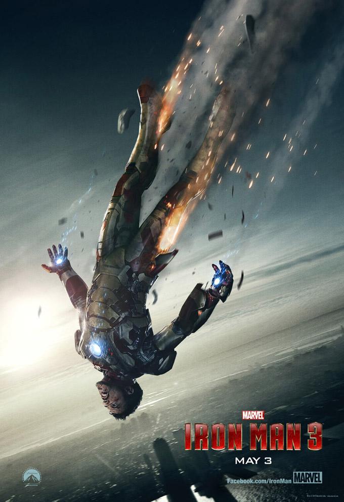 Iron Man 3, freefall poster