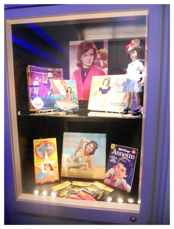 Annette merchandise and memorabilia was on display in the lobby of the Disney Studio theater