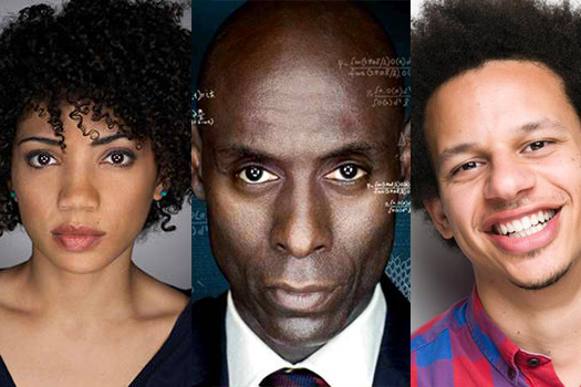 (l to r) Jasika Nicole, Lance Reddick and Eric Andre