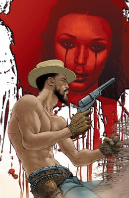 """""""Django Unchained"""" issue #4, cover by Frank Quitely"""