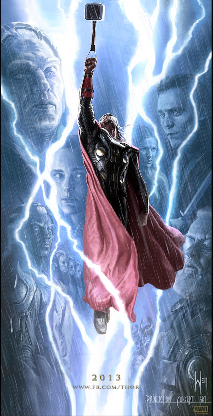 Thor 2 poster concept art