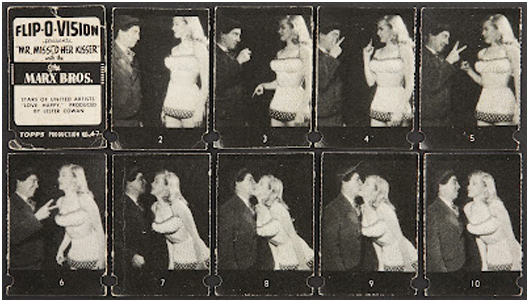 Chico with Marilyn Monroe in a Flip-O-Vision book