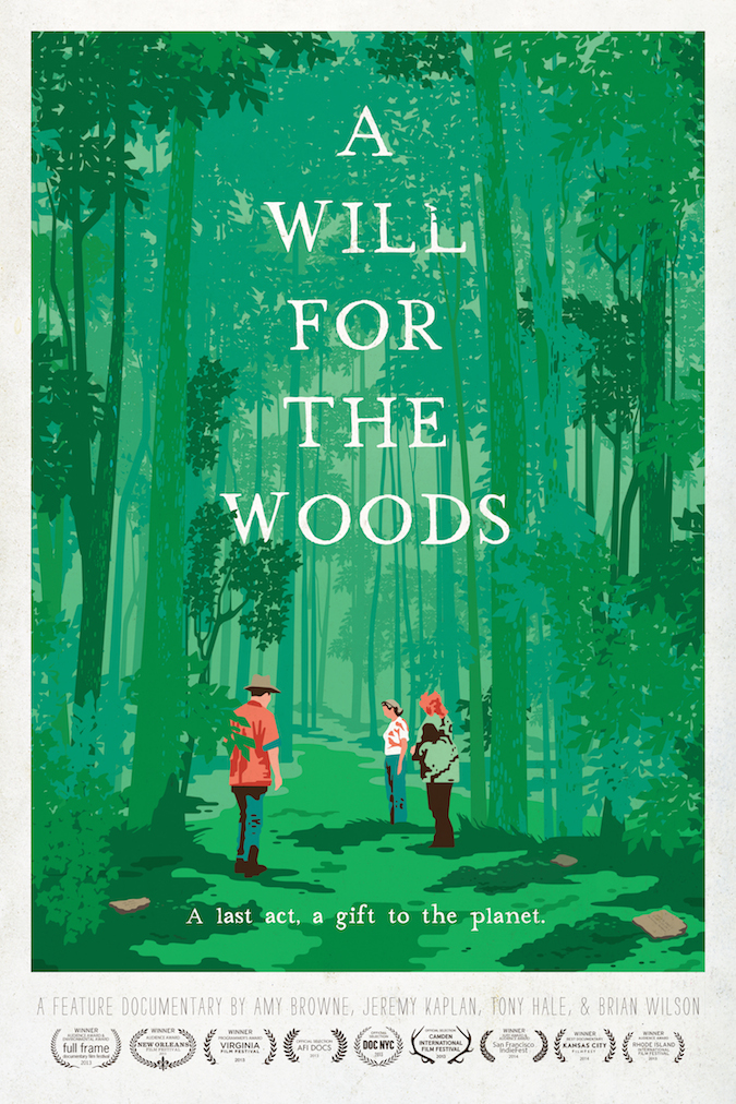 "The poster for documentary film ""A Will for the Woods."""