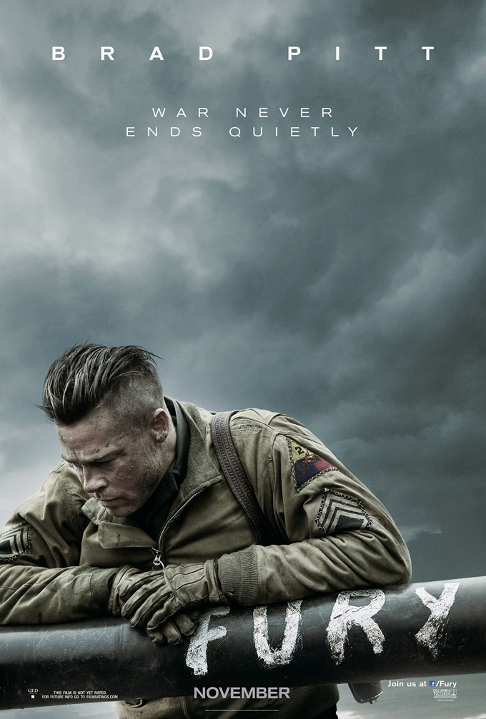 Watch First Trailer Poster For Brad Pitt WWII Drama Fury Co - New official trailer fury starring brad pitt