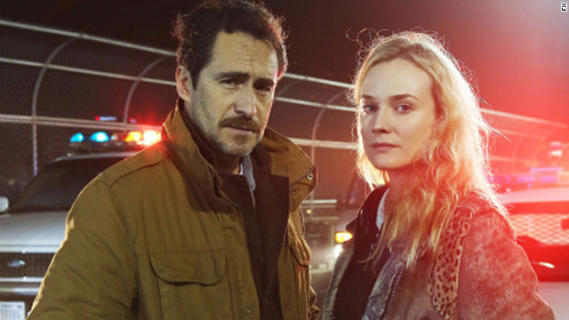 Demian Bichir, Diane Kruger in The Bridge